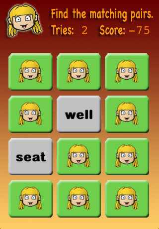 Screenshot Meghan's Matching Game Kindergarten