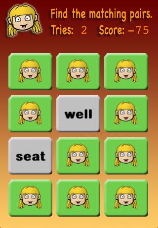 Screenshot Meghan's Matching Game Kindergarten